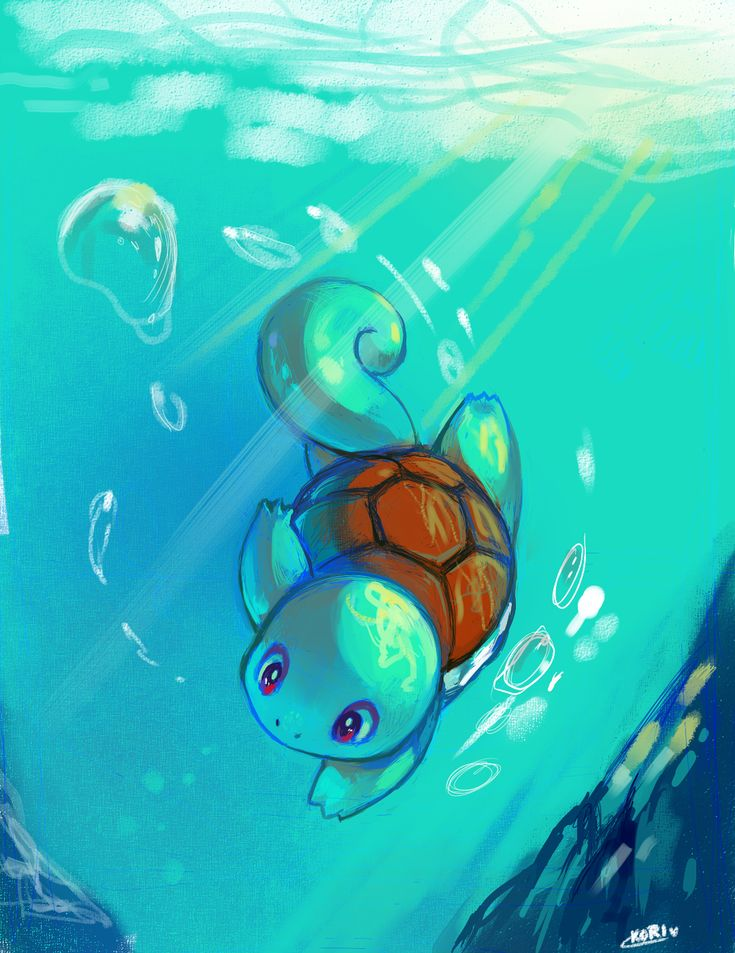 Squirtle by kori7hatsumine.deviantart.com on @deviantART. Just keep swimming. Just keep swimming.... #Pokemon #Squirtle #StarterPokemon