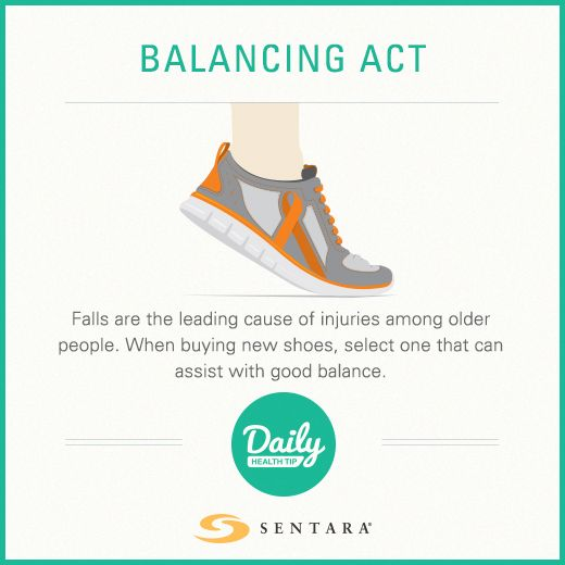 #HealthTip: Falls are the leading cause of injuries among older people. When buying new shoes, select a one that can assist with good balance.