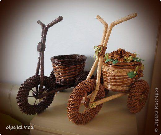 Поделка изделие Плетение Плетеные велосипеды Бумага фото 1