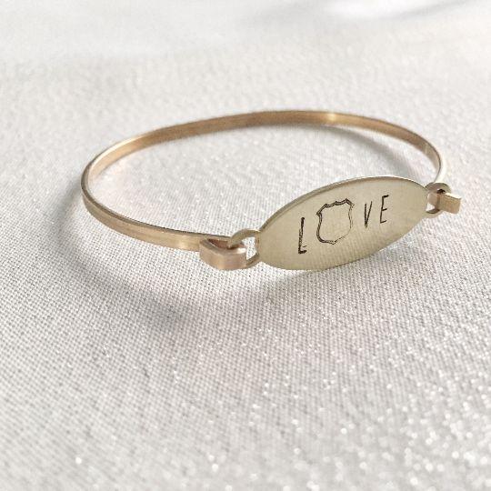 Police Love Bracelet- Police Wife Bracelet
