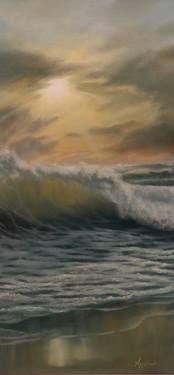 "Saatchi Art Artist ΑγγελικΗ  Aggeliki; Painting, ""Transparency"" #art Oil on canvas 60X30X1.5cm"