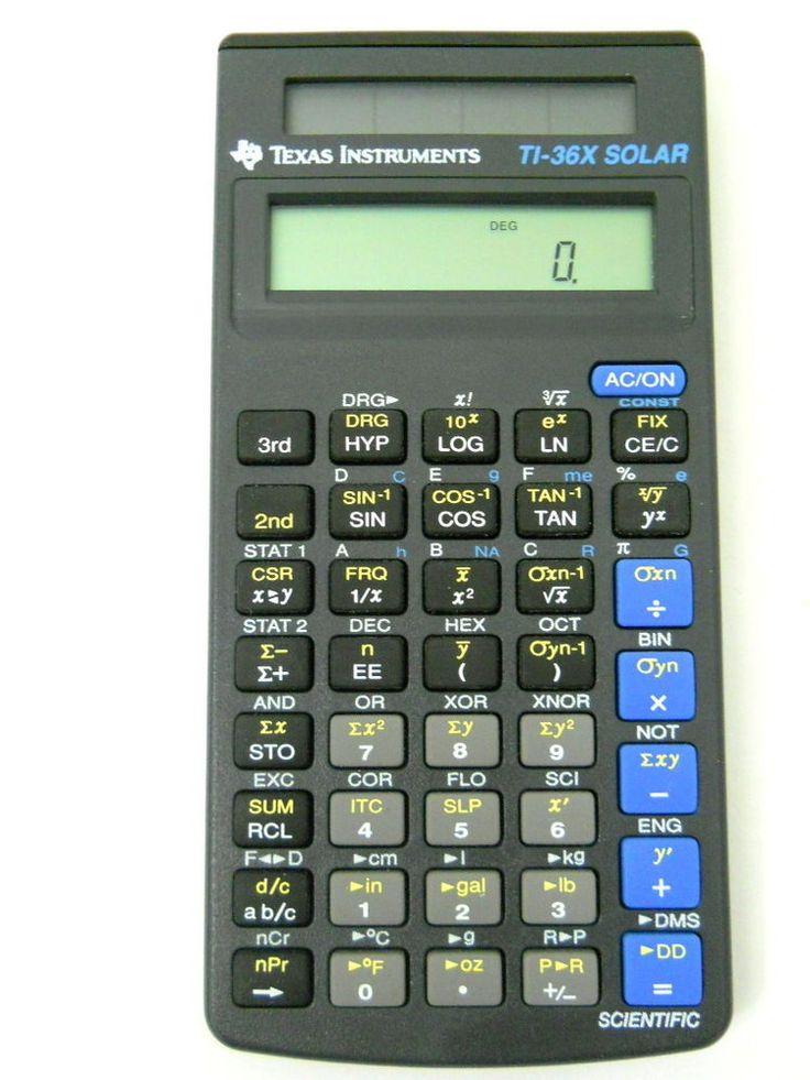 Ti36x solar scientific calculator youtube.
