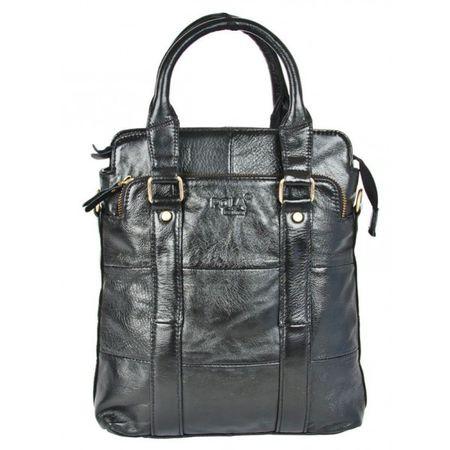 Мужская кожаная сумка через плечо Pola 0308-black