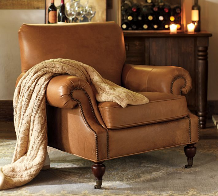 Best HOME Brown Leather Chair Images On Pinterest Brown - Comfy leather armchair for readers