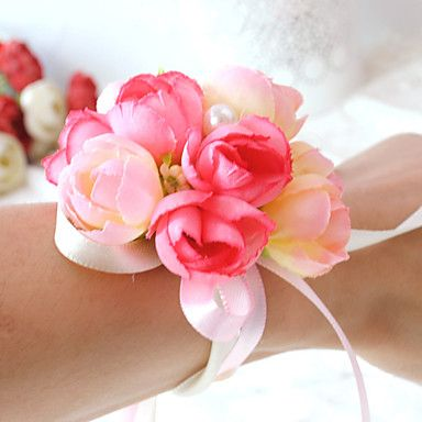 Wedding Flowers Round Roses Wrist Corsages Wedding Party/ Evening Satin Cotton Bead 5017390 2017 – £2.45