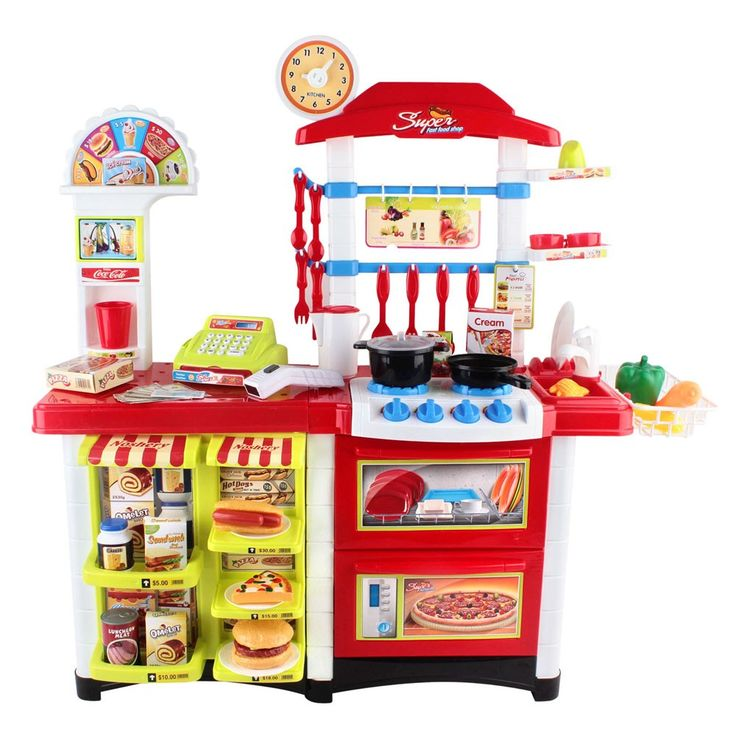 Kids zone :: Toys :: Kitchen Supermarket Pretend Play Set Red White - Welcome to RZKU.com-24x7 Shopping Experience