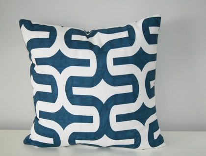 Beautiful Designer Geometric Cover, Classic Navy and White | Felt