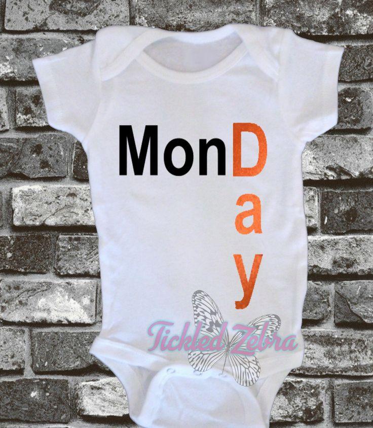 Weekday / Weekend Baby Boy Onesie Set (7 onesies) Monday Tuesday Wednesday Thursday Friday Saturday Sunday by TickledZebra on Etsy