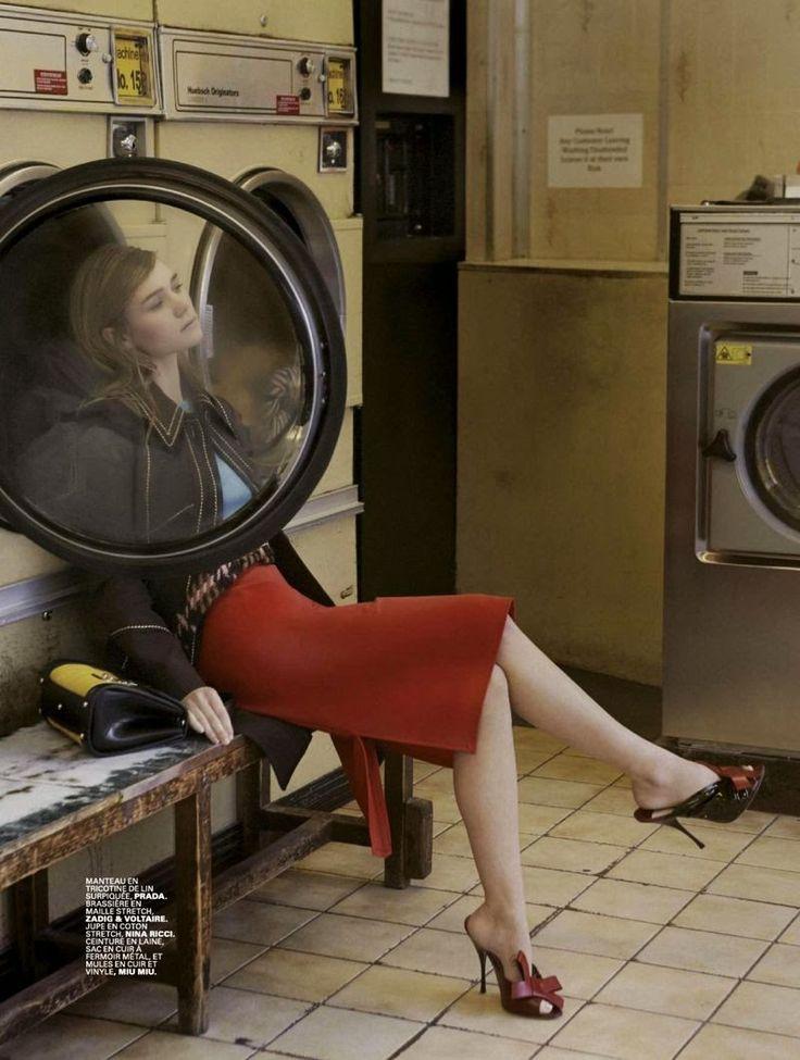 """My Beautiful Laundrette"" Immy Waterhouse for Jalouse France April 2015"