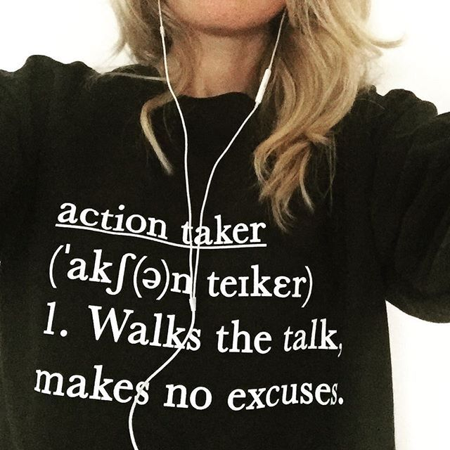 """Action expresses priorities"" - Mahatma Gandhi    #sweatshirt   #wellnessmotivation  #actiontaker"