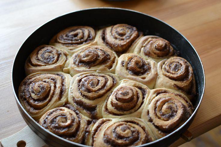 Рецепт булочки синабон. Фото приготовления в домашних условиях.