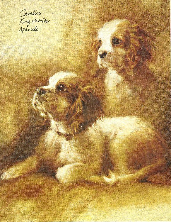 Cavalier King Charles Print - Rien Poortvliet