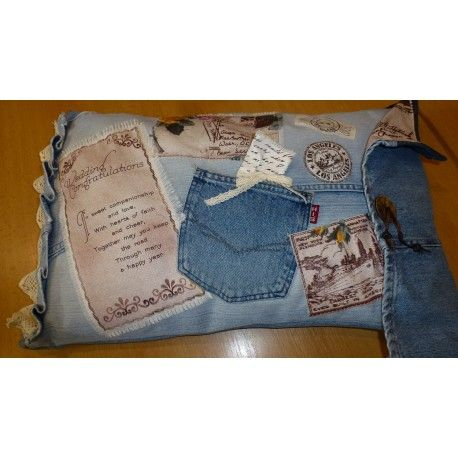 Polštář Jeans memory 40 x 60 cm