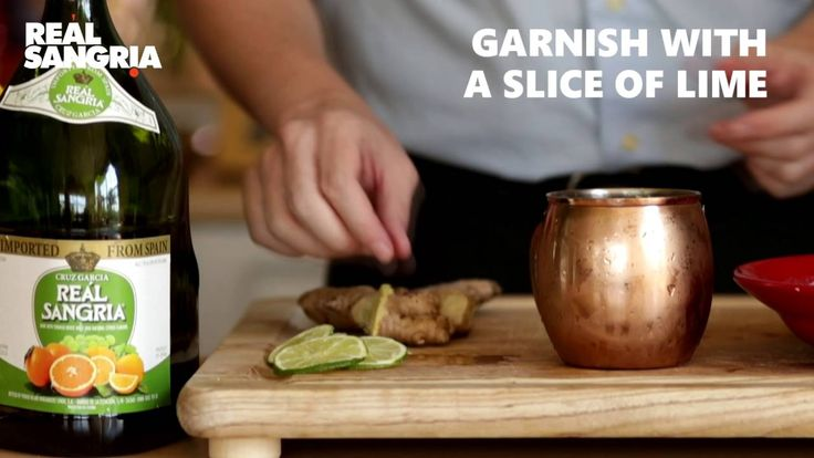"Lemon & ginger beer Sangria Recipe - Real Sangria ""Madrid Mule"""