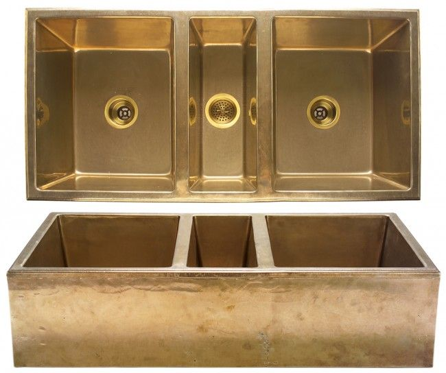 One sweet farmhouse sink in bronze. Nine patina finishes to choose from.   http://rusticahardware.com/rocky-mountain-hardware-farmhouse-sink/