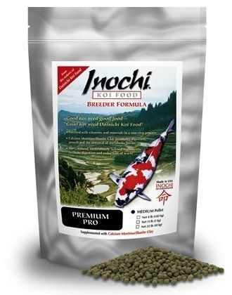 CalPonds Freshly Milled Dainichi Inochi Premium PRO Koi Fish Food for Ponds - 11 lbs. (Medium Pellet)