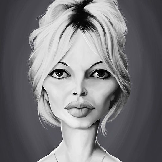 Brigette Bardot art | decor | wall art | inspiration | caricature | home decor | idea | humor | gifts