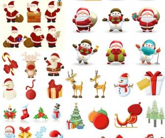 Christmas Santa Claus illustrations vector