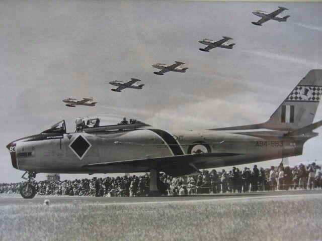 RAAF CA-27 Sabre at airshow