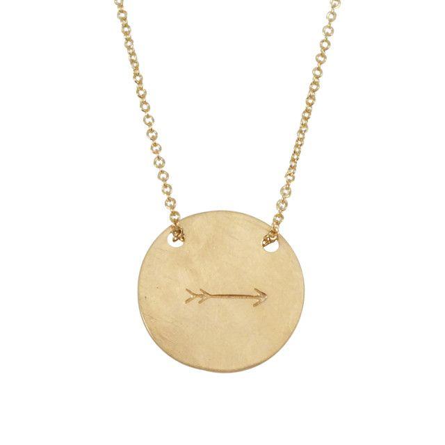 Round Arrow Necklace
