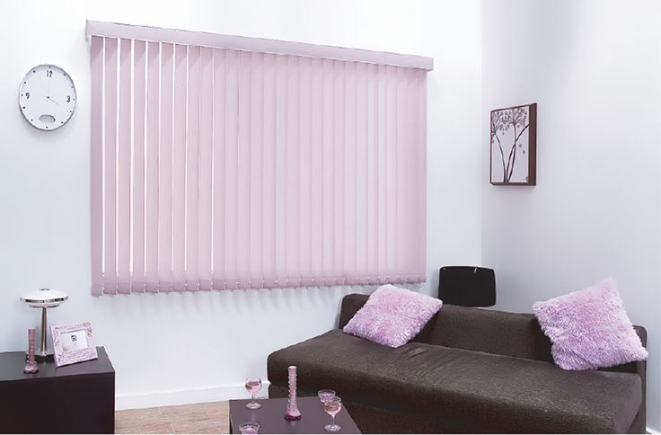 These pink Vertical blinds are available in different forms including: wood, lace, aluminium, rigid and fabric. Probably the most practical blind type can be used on curved and sloping windows. Vertical blinds offer precise control of sun and light. They can be machine washable and are very versatile. Whether it's classical, modern, comfort or cutting edge design you want, the choice is yours at Rimini Blinds.