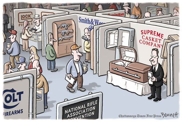 Political Cartoons of the Week: NRA Convention