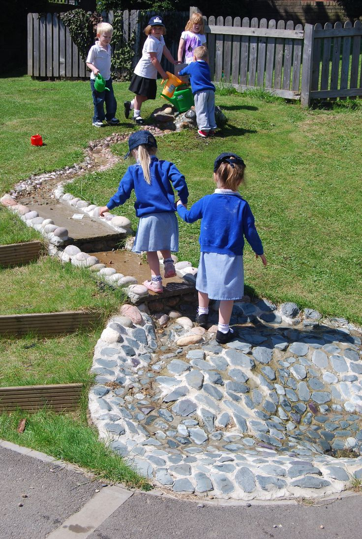 183 best images about natural playspace ideas on pinterest for Kindergarten playground design