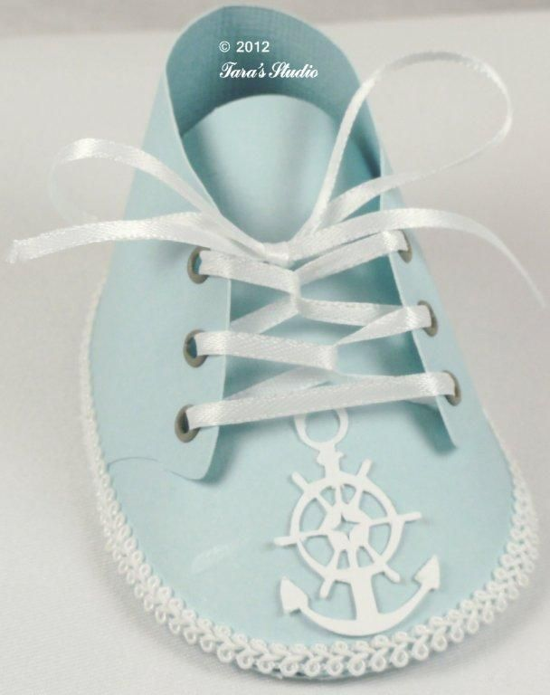 Baby boy and baby girl shoes with cutting files and assembly instructions | Tara's Craft Studio