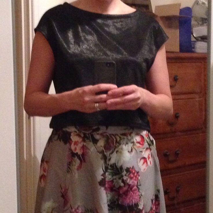 Simple Sew Sophia top in lurex ponte