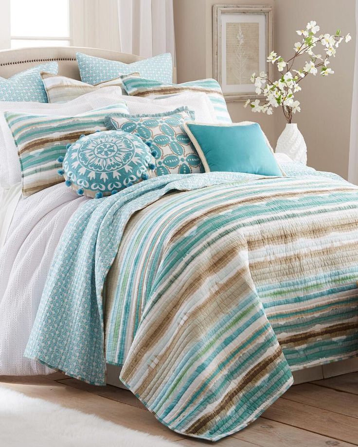 Only Ours Cawdor Teal Quilt Beach Bedroom Decor Teal Bedding