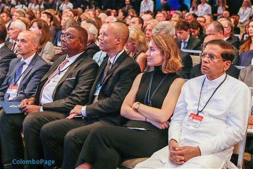 Sri Lankan President Maithripala Sirisena participated as a special invitee in the Clinton Global Initiative (CGI) Annual Meeting 2016, held Monday, September 19, at the Sheraton New York Times Square Hotel in New York.