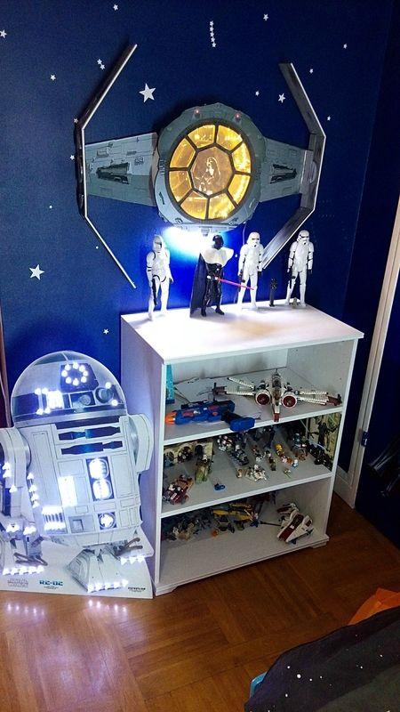 chambre star wars Legos, D2, vaisseau Dark Vador