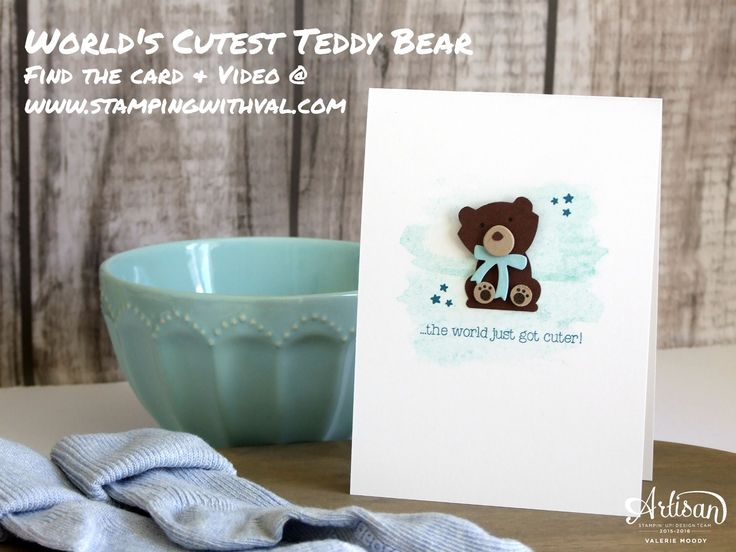 Hi! I was so excited to share this new baby card, featuring the cutest teddy bear ever, with crafters at my Laughs & PaperCrafts class last Friday night. I saw this cute teddy made using the Fo…