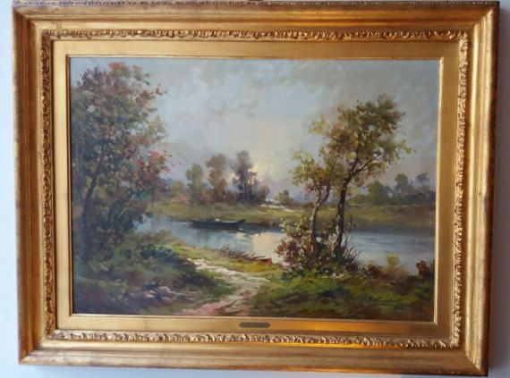 Check out this item in my Etsy shop https://www.etsy.com/listing/509457063/antique-landscape-oil-painting-on-canvas