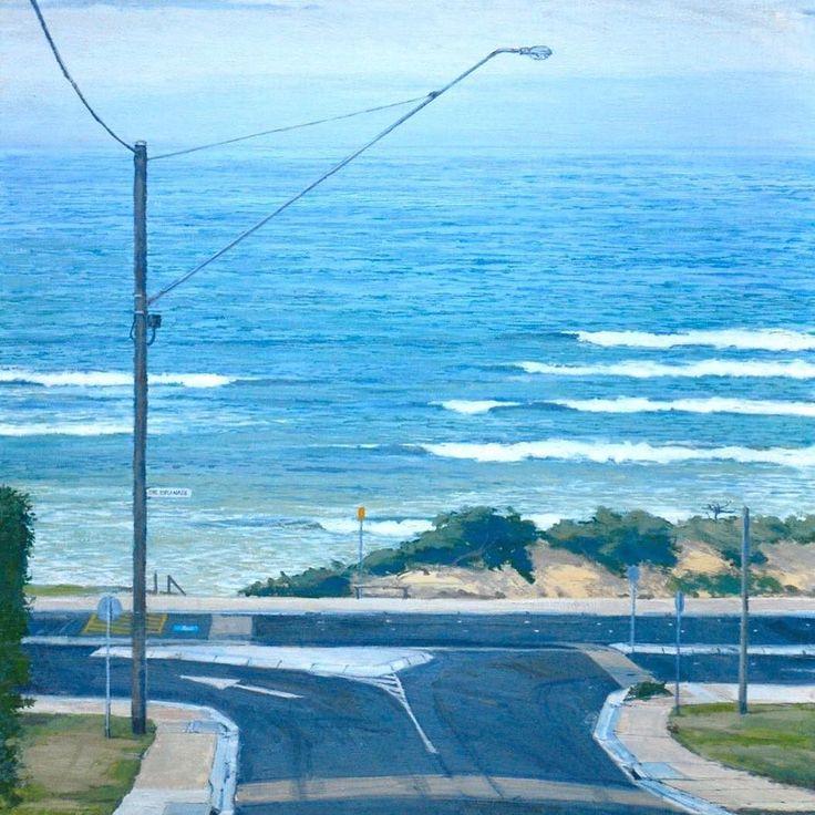 'Urban coast' oil on linen. On exhibition this weekend at the Geelong College Art Show. #geelongcollegeartshow #geelong #oceangrove #bellarinepeninsula #geelongart #geelongcollege #artforsale by markcairnsartist http://ift.tt/1JO3Y6G