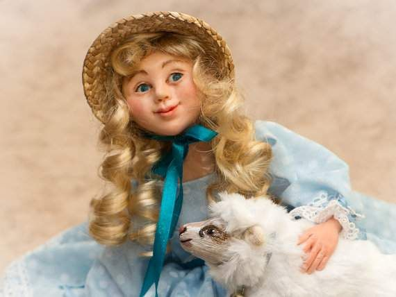Dolls – Mary and her Lamb .  – a unique product by Elena-harf4g on DaWanda