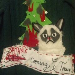 Grumpy Cat Christmas Sweater