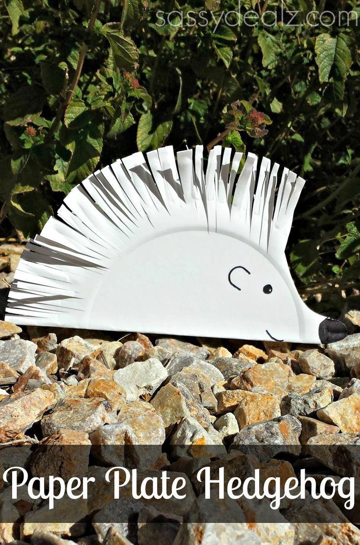 DIY Hedgehog Paper Plate Craft For Kids - Crafty Morning