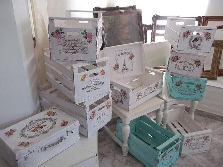 1000 images about cajas de fresas y frutas on pinterest - Decoracion shabby chic ...
