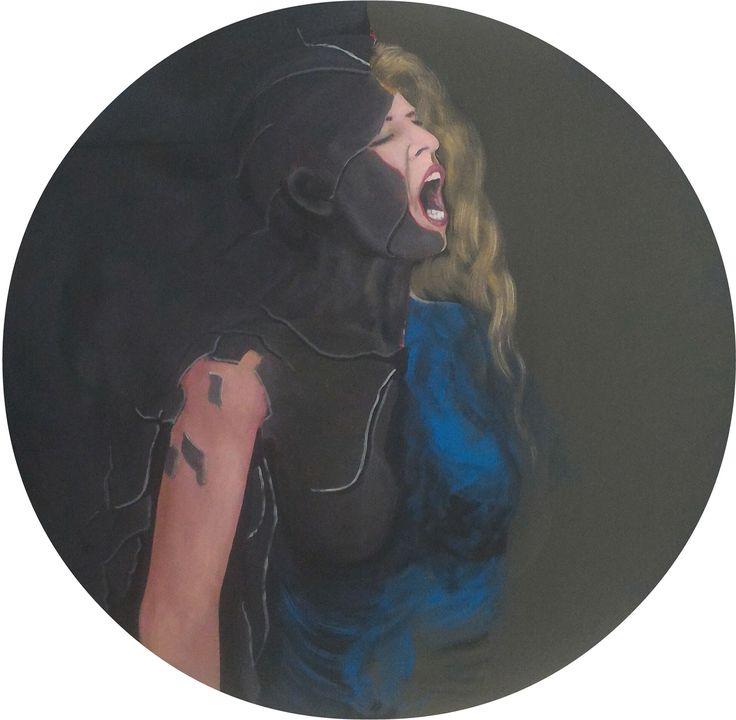 Çığlık (Scream) by Metin Özgör #Tuval üzerine #Akrilik / #Acryliconcanvas 80cm x 80cm  #gallerymak #sanat #tablo #resim #sanatsal #sanatgalerisi #ig_sanat #boyama #çağdaşsanat #sergi #kadın #figür #sanatsever #atölye #contemporaryart #figurative #painting #contemporarypainting #woman #art #artgallery