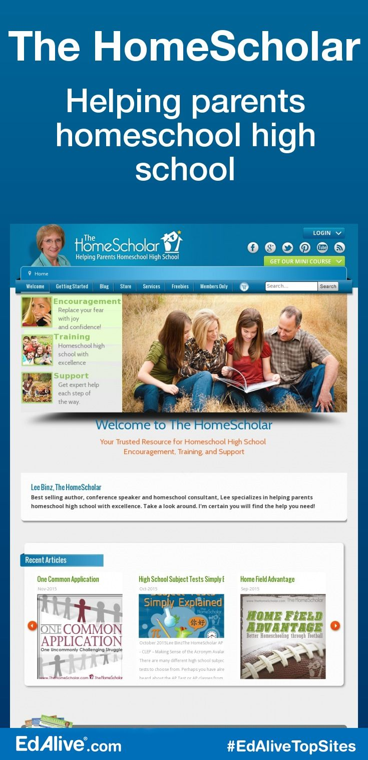 Helping parents homeschool high school   Helping parents homeschool high school. Your Trusted Resource for Homeschool High School with encouragement, training, and support. #HomeSchooling #EdAliveTopSites