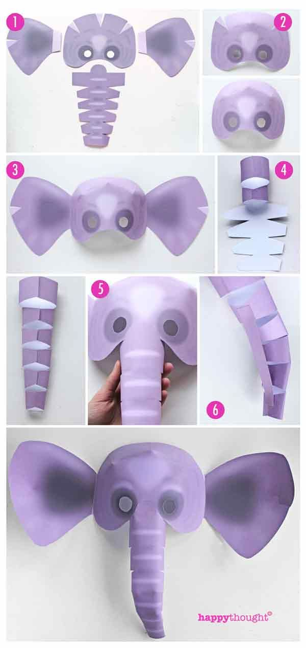 How to make an Elephant mask as a costume or to learn more about Elephants in class. https://happythought.co.uk/product/printable-wild-animal-masks