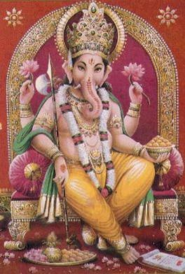 Jai Ganesha! Auspicious beginnings and remover of obstacles.