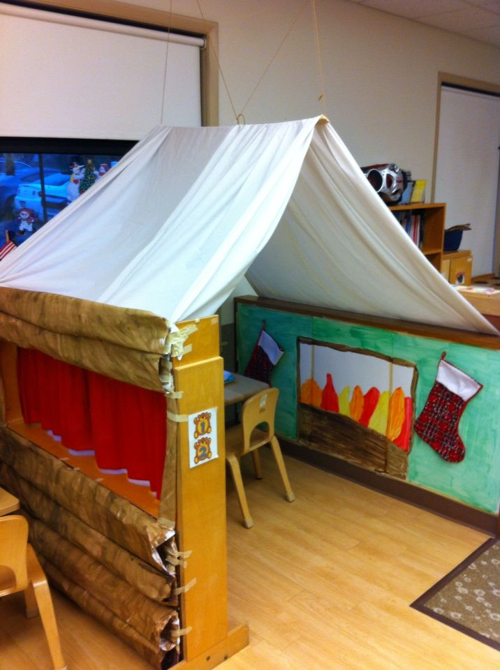 Our log cabin dramatic play 2013