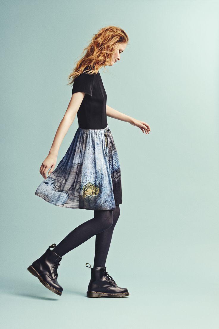 Holzweiler AW15 Collection - Peacock Folgefonna Dress