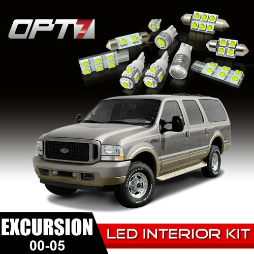 Cool  Piece Interior LED Light Bulb Package for Ford Excursion White