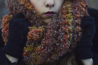 Big Bouclé Cowl/Hood - FREE crochet pattern by Luna Craft on Ravelry