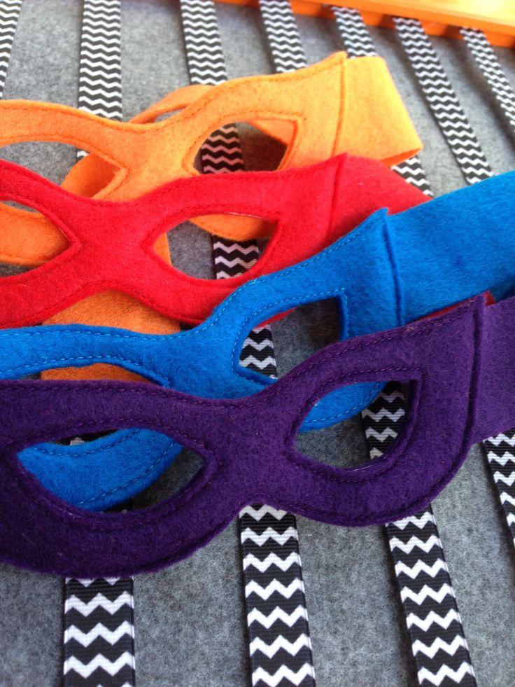 Mask for a Hero: Felt Masks. $2.00, via Etsy.