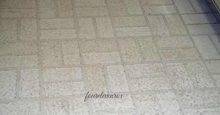cleaning old scratched linoleum, floor cleaning