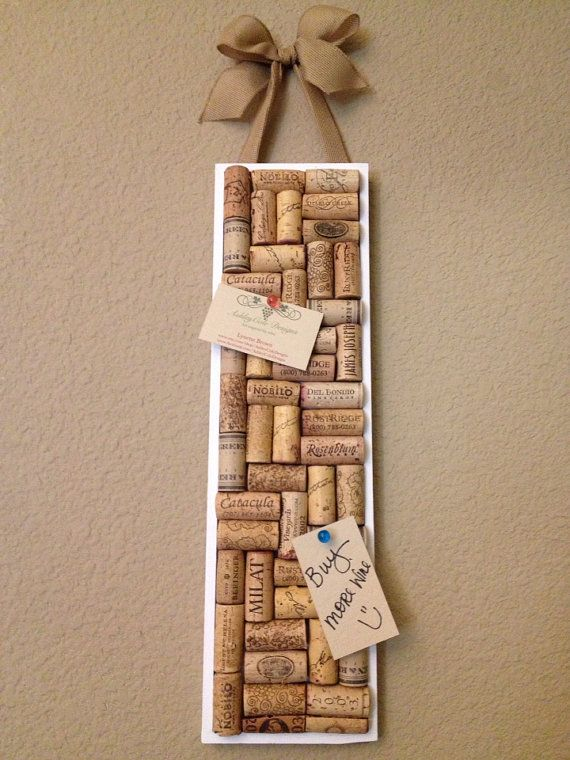 Wine cork board by AshleyColeDesigns on Etsy, $20.00